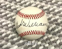 100% Authentic Ted Williams Single Signed'92 Al Baseball-rare Post Stroke Auto