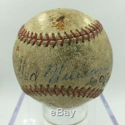 1941 Jimmie Foxx & Ted Williams Dual Signed Autographed Baseball JSA LOA