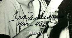 1941 Ted Williams Large Signed Photo Kissing Bat withRare 406-1941 inscription