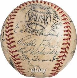 1947 All Star Game Team Signed Baseball Joe Dimaggio & Ted Williams PSA DNA COA