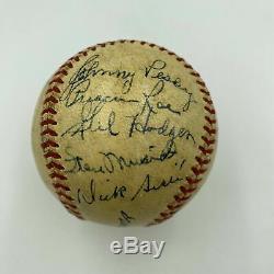 1950 All Star Game Team Signed Baseball Joe Dimaggio Ted Williams Musial JSA COA