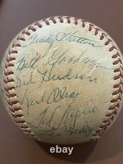 1954 Boston Red Sox Team Signed Baseball Ted Williams Harry Agganis 23 Autos