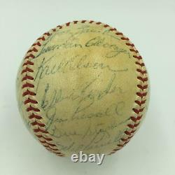 1955 Boston Red Sox Team Signed American League Baseball Ted Williams PSA DNA