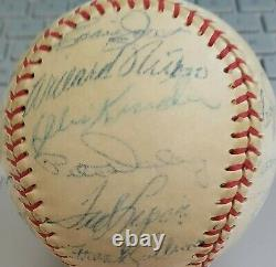 1957 Boston Red Sox Team Signed Baseball 26 AUTO'S Ted Williams Jackie Jensen