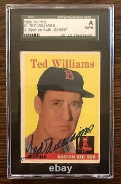 1958 Topps #1 Ted Williams Red Sox Autographed Signed JSA encapsulated