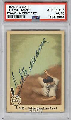 1959 Fleer #34 Ted Williams PSA DNA Auto Signed
