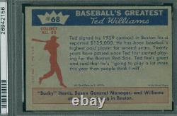 1959 Fleer 68 Signs for 59 Ted Williams PSA 8 (2156)
