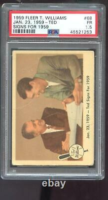 1959 Fleer Ted Williams #68 Jan 23 Ted Signs for PSA 1.5 Graded Baseball Card