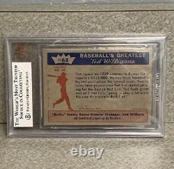 1959 Fleer Ted Williams #68 Ted Signs for 1959 BVG 8 CENTERED! THE RARITY