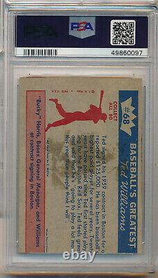 1959 Fleer Ted Williams #68 Ted Williams Signs For 1959 Psa 4(mc) Vg-ex (svsc)