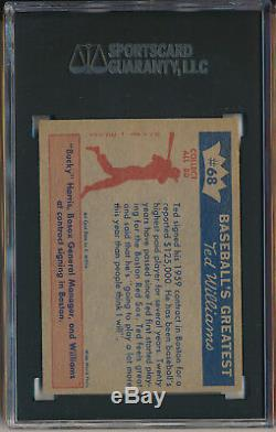 1959 Fleer Ted Williams #68 Ted Williams Signs For 1959 Sgc 6.5 Ex/nm+ (svsc)
