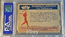1959 Fleer Ted Williams TED SIGNS FOR 1959 #68 PSA 8 NM-MT