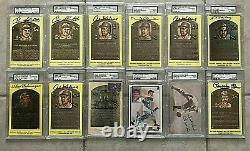 1964 HOF 37 PSA Signed Yellow Postcards Ted Williams DiMaggio Mantle Bench Berra