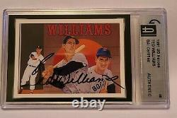 1991 UD Heroes TED WILLIAMS GAI CERTIFIED AUTHENTIC AUTOGRAPH
