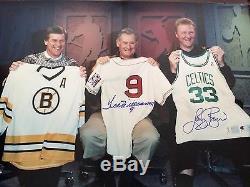 1992 BOYS of BOSTON signed 22x32 photo HUGE Ted Williams, Larry Bird, Bobby Orr