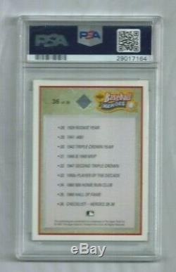 1992 Upper Deck Heroes Ted Williams Signed Autograph insert PSA Gem Mint 10