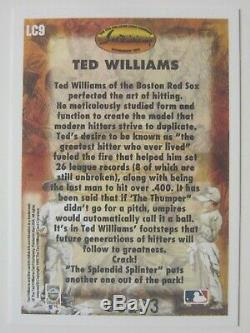 1993 LOCKLEAR TED WILLIAMS SIGNED BASEBALL CARD LC9 Serial #00233 BOSTON RED SOX