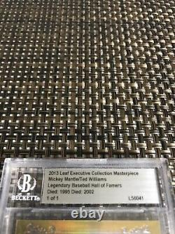 2013 Leaf Executive Collection Masterpiece Mickey Mantle, Williams Cut Auto 1/1
