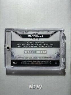 2019 Topps Diamond Icons Ted Williams Boston Red Sox CUT AUTO Autograph True 1/1
