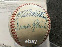 500 HR Club Signed Baseball 7 Autos Ted Williams Banks Mays and more JSA