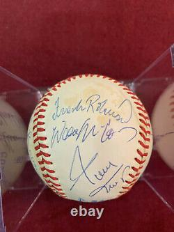 500 Home Run Club 11 Autographed Ball Mickey Mantle, Ted Williams, Aaron, Mays