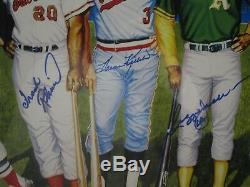 500 Home Run Club Autographed Matted & Framed Ron Lewis 20x36 poster JSA CoA