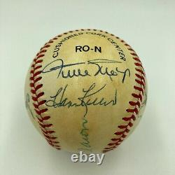 500 Home Run Club Signed Baseball Mickey Mantle Ted Williams Willie Mays JSA COA