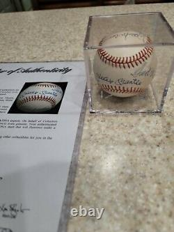 500 Home Run Club top 7 Signed auto Baseball Mickey Mantle Ted Williams PSA DNA