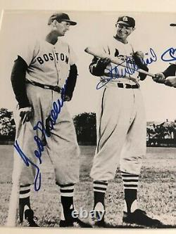 Autographed Mickey Mantle Ted Williams Stan Musial 8x10 Framed JSA Signed Full