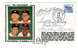 Baseball Yastrzemski, Ted Williams, Frank Robinson, Mantle Autographed with COA