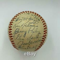 Beautiful 1946 All Star Game Team Signed Baseball Ted Williams With PSA DNA COA