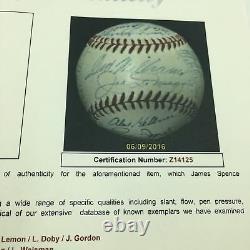 Beautiful 1949 All Star Game Team Signed Baseball Joe DiMaggio Ted Williams JSA