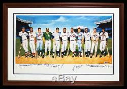 Beautiful 500 Home Run Club Signed Lithograph Mickey Mantle Ted Williams JSA COA