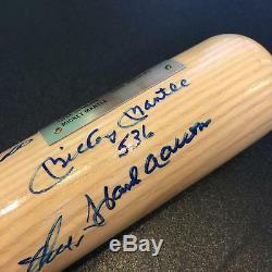 Beautiful 500 Home Run Signed Bat Mickey Mantle Ted Williams 11 Sigs JSA COA