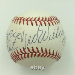 Beautiful Ted Williams 1997 Signed Autographed American League Baseball JSA COA