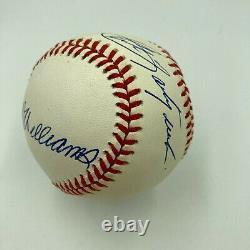 Beautiful Ted Williams & Carl Yastrzemski Signed Baseball Boston Red Sox JSA COA