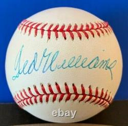 Beautiful Ted Williams Signed OALB Baseball PSA DNA Authenticated Red Sox withCube