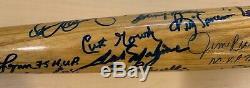 Boston Red Sox Multi Signed Cooperstown Bat LE Carl Yastrzemski, Carlton Fisk 35