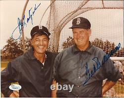 Boston Red Sox Ted Williams Carl Yastrzemski Signed 8x10 Photo Auto JSA LOA
