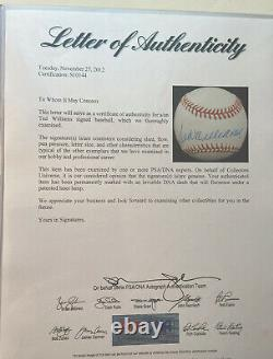 Brilliant Ted Williams Signed Official OML Bobby Brown Baseball WithPSA/DNA LOA