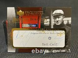 CY YOUNG / TED WILLIAMS DUAL AUTO 1/5 2006 Exquisite Legendary Cuts RED SOX
