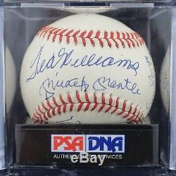 Choice 500 Home Run Club Signed OAL Baseball (11) Mickey Mantle Ted Williams JSA