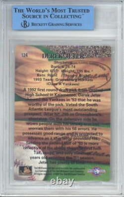 Derek Jeter Signed Auto 1994 Ted Williams Rookie #124 JSA BGS