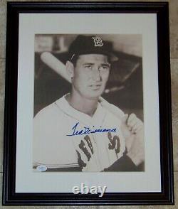 FLASH SALE! Ted Williams Signed Autographed Framed Baseball 11x14 Photo JSA LOA