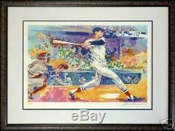 Framed Ted Williams Boston Red Sox Limited Edition Leroy Neiman Serigraph Jsa