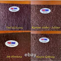 Gartlan TED WILLIAMS JOE MONTANA WAYNE GRETZKY +1 Signed Pewter Set #229/500 PSA