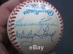 Hall of Fame Multi Signed Baseball 16x signed Baseball Ted Williams Beckett BAS