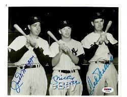 Joe DiMaggio, Mickey Mantle & Ted Williams Autographed Photo
