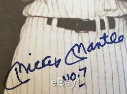 Joe DiMaggio Mickey Mantle Ted Williams Signed / Autographed GUARANTEED