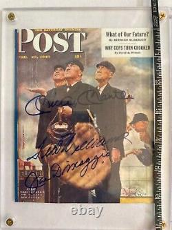 Joe DiMaggio, Mickey Mantle, & Ted Williams Signed Saturday Evening Post BONUSES